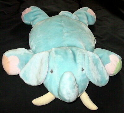 "Large Carters John Lennon Yoko Ono Blue Elephant Plush 32"" Stuffed Baby"