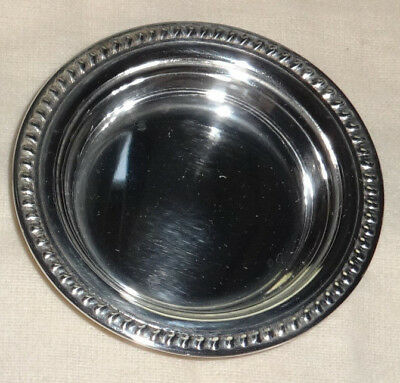 Old Antique International Sterling Silver Butter Pat Bowl Tray S62
