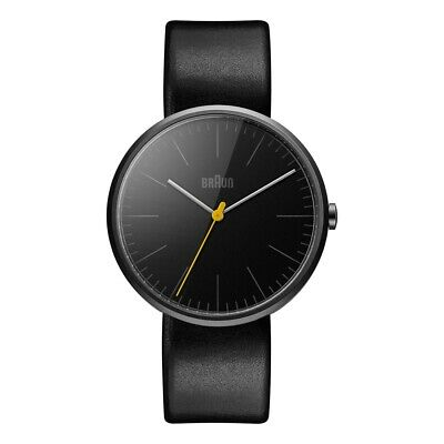 Braun BN0172BKBKG Mens Classic Slim Black Leather Strap Watch RRP £170