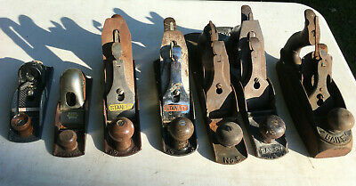 Vintage Antique Lot of 6 No. Stanley Bailey Planes great to restore or parts