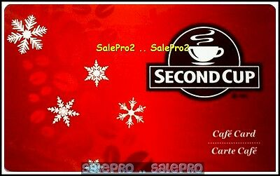 Second Cup 2008 Coffee Christmas Snow Flakes #6049 Cafe Collectible Gift Card