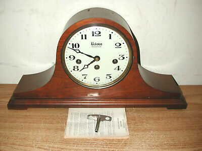 Vintage Bulova Westminster West Germany Chime Mantle Clock 340-020 With Key