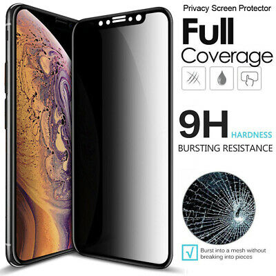 For iPhone X XS XR XS Max Caseswill 10D Tempered Glass Privacy Screen Protectors