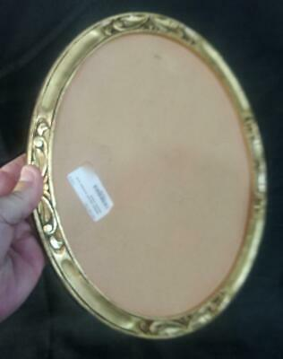 Old Antique Original Carved Wood Wooden Picture Frame Gold Gilt Art Nouveau Oval