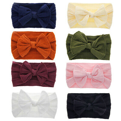 Head Wrap Toddler Turban Baby Nylon Headband Bow Hairband Knotted Turban