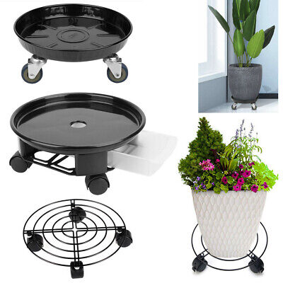 3pcs Plant Dolly Stand 12 in Rolling 4 Wheels Heavy Duty Caddy Holder Patio Pot