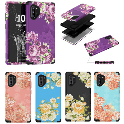 Peony Flower Shockproof Hard Case Cover For Samsung Galaxy Note 10+ S10 S9 Plus
