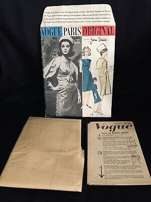 Rare $95 Vogue Paris Original by Jean Desse Pattern No. 1154 Sz 16