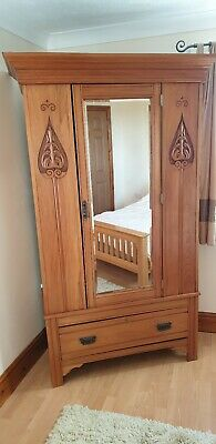 Antique edwardian wardrobe