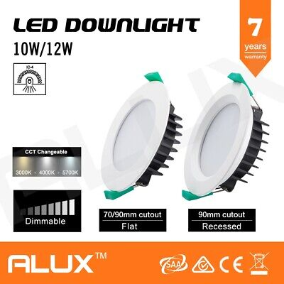 Led Dimmable Downlight 10W 12W Cct Changeable Ip44 Warm, Daylight, Cool White