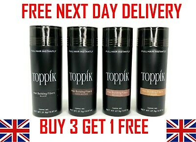 TOPPIK Hair Building Fibers 27.5g - Buy 3 Get 1 Free ( ADD 3 TO BASKET )