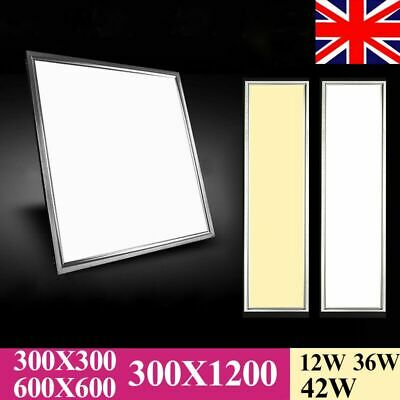 36W/42W LED Recessed Office Kitchen Panel Ceiling Light 1200x300 600x600 300X300