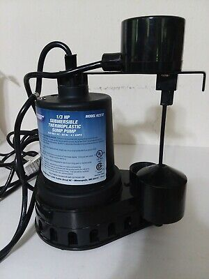 Superior Pump 1/3 HP Submersible Thermoplastic Sump Pump 92372 *Tested*