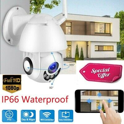 Telecamera Wifi Ip Mini Speed Dome Da Esterno Ip66 2 Mpx 1080P Registra Sd Card