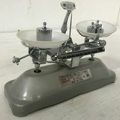 Vintage Tricle Brand Table Balance Scales - with Metal Weights