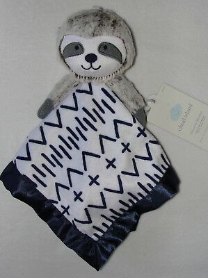 New Cloud Island Sloth Baby Security Blanket White Blue Blankie Cuddle Lovey NWT