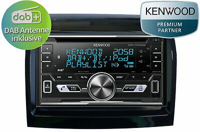 Fiat Ducato Peugeot Boxer Kenwood Dpx 7100 DAB+ Bluetooth Incl. DAB Antenna