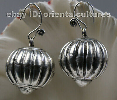 Tribal exotic ethnic chinese handmade miao silver earring