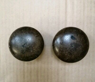 Pair of Antique Victorian Mahogany Turned Wooden Knobs