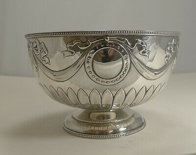 "Stunning Antique English Sterling Silver 8 1/4"" Bowl by William Hutton - 1904"