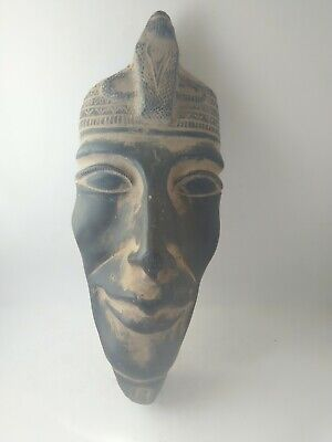 RARE ANTIQUE ANCIENT EGYPTIAN Pharaoh Akhenaten Mask Worship 1352–1340 Bc