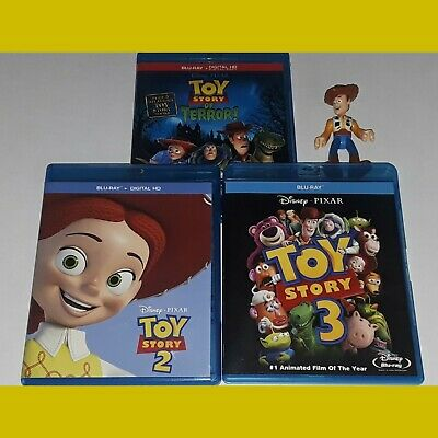 Toy Story Blu-ray Kid Movie Lot 2 3 of Terror Woody Action Figure Collection Set