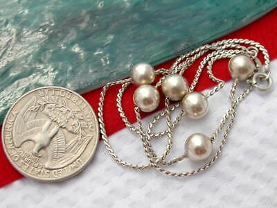 Vintage 830s   EC Sterling Silver Ball / orb Chain Necklace