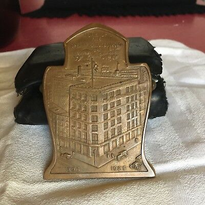 Arts & Crafts Bronze Desk Paper Clamp Sperry & Hutchinson Union Square NYC