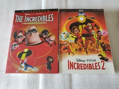 Incredibles 1 and 2 DVD 2-Movie Brand New Disney Pixar USA Free Shipping!