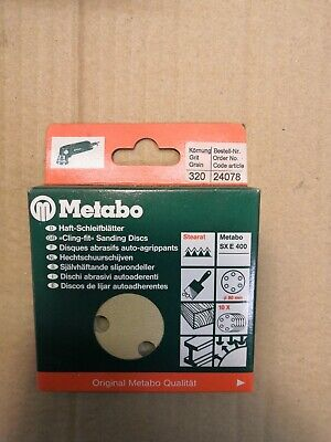 METABO 80MM SANDING DISCS -  PK OF 10, 320 GRIT, No 24078