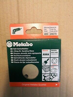 METABO 80MM SANDING DISCS -  PK OF 10, 400 GRIT, No 24079