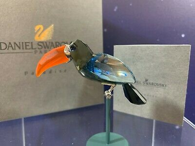 Swarovski Crystal Mint Figurine Paradise Birds Bamba Black Diamond 284062 MIB
