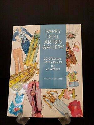PAPER DOLL ARTISTS GALLERY Paper Doll Book with 22 Paper Dolls