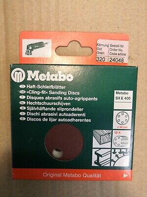 METABO 80MM SANDING DISCS -  PK OF 10, 320 GRIT, No 24048