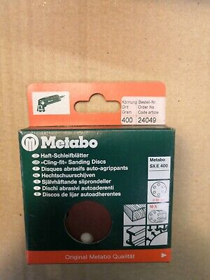 METABO 80MM SANDING DISCS -  PK OF 10, 400 GRIT, No 24049
