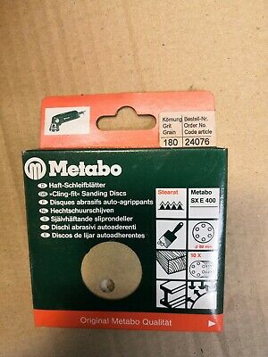 METABO 80MM SANDING DISCS -  PK OF 10, 180 GRIT, No 24076