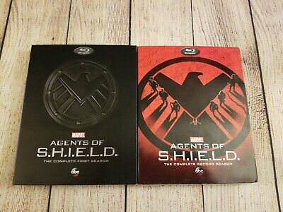 Marvel Agents of Shield: First & Second Season Blu-ray's w/ Rare OOP Slipcovers