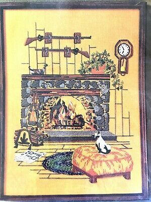 Vintage FIREPLACE Crewel Kit # 508 NEW Golden Bee Stitchery
