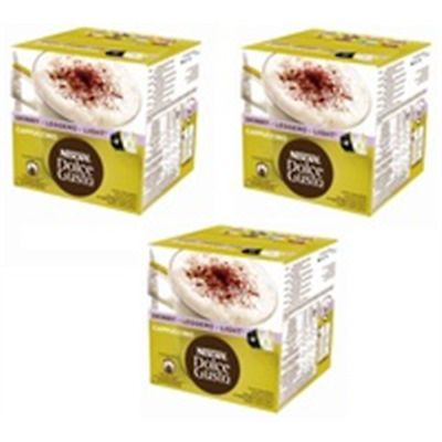 Pack 3 Cajas Dolce Gusto Cappuccino Light