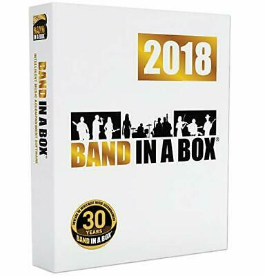 New PG Music Band in a Box Pro 2018 Mac Composition Software Boxed