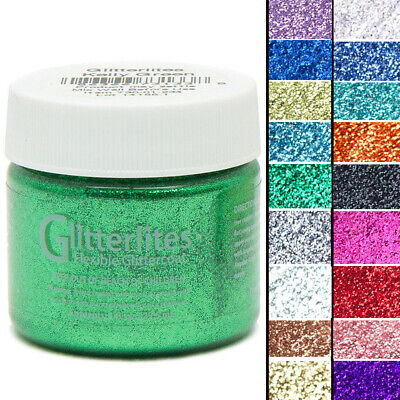 Angelus Glitterlites Flexible Leather Paint For Sneakers 1 Oz All Colors U-Roup