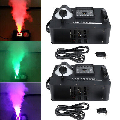 1500W 24LED Smoke Effect Machine Stage Fogger Equipment Remote Controller 2PCS