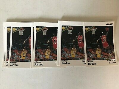 Michael Jordan Lot of 10 1991 Star Company White Ad Cards Dunking over Magic