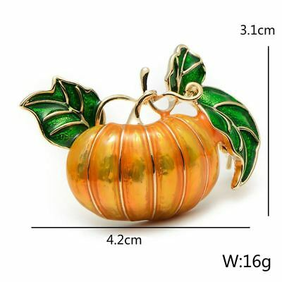 Pearl Pumpkin Brooches for Women Halloween Enamel Pins Fashion Jewelry Gifts Hot