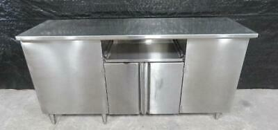 72 x 22 x 37 Stainless Steel Cabinet counter top table