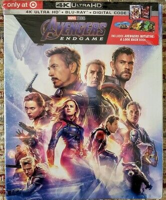Disney Marvel Avengers Endgame 4K + Bluray Blu-Ray Target Exclusive - No Digital