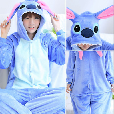 Adult Kids Fleece Unisex onesie Kigurumi Animal Pajamas Costume Sleepwear AU
