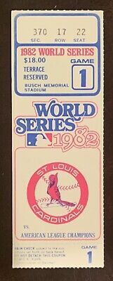 1982 World Series Game 1 ticket stub St Louis Cardinals Milwaukee Brewers