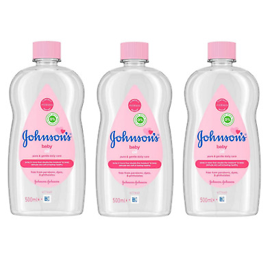 PACK OF 3 Johnsons Baby Oil Gentle Daily Care 500ml