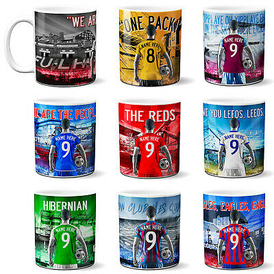 Personalised Football Mug Mens Cup Tea Coffee Birthday Work Dad Gift ALL TEAMS